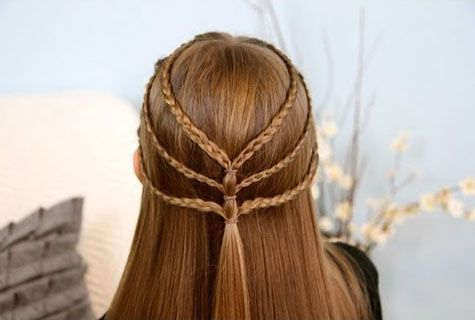 Laced Tieback French Braid