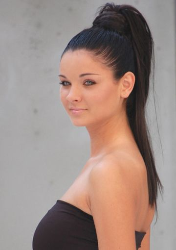 Long Black Sleek Ponytail hairstyles