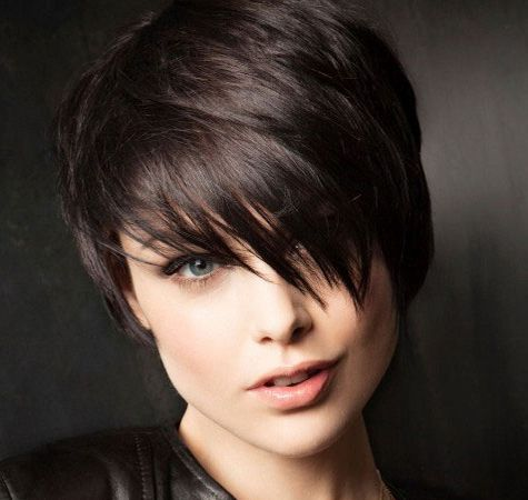 Long Pixie black haircuts