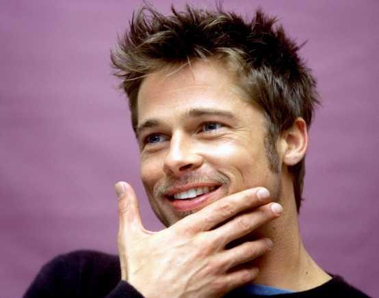 Brad Pitt Short Spiky Haircut 2016