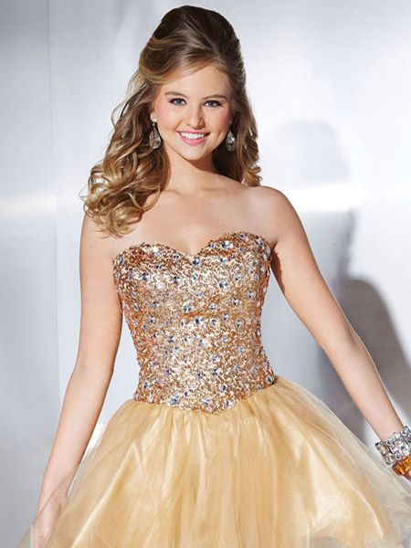 prom sequenced gowns