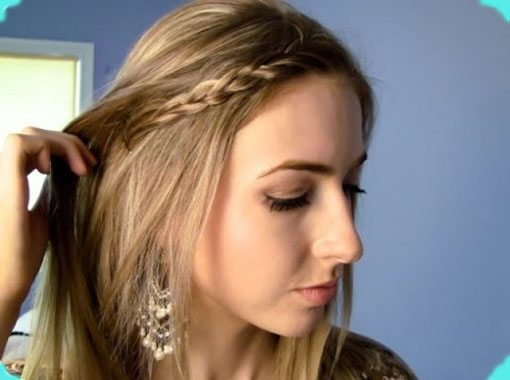 Front Braided Headband for teen girls