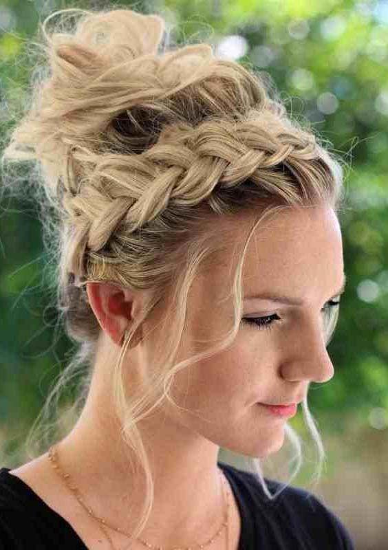 Amazing French Braided Bun Hairstyles