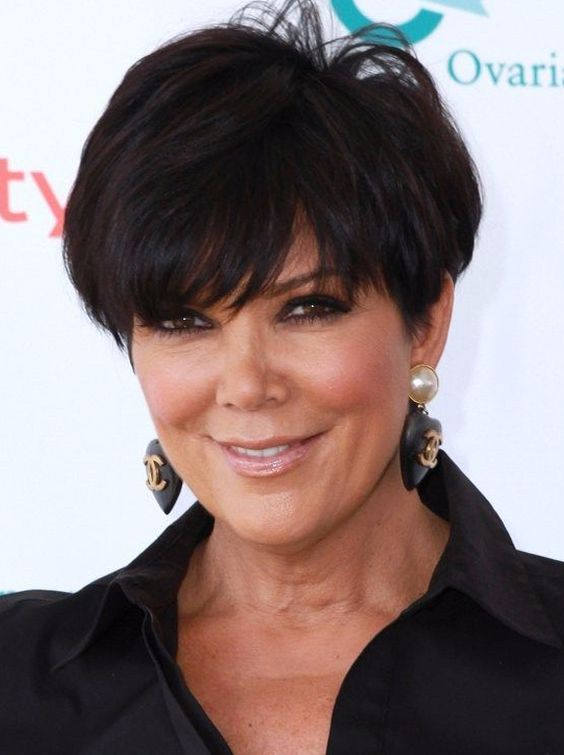 Classic Black Pixie Hair for Women Over 50