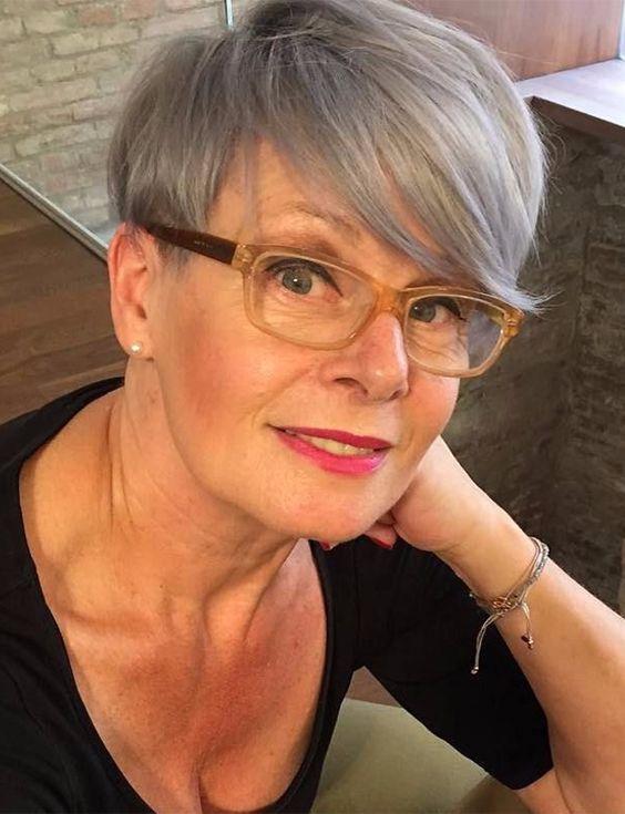 Long Full Pixie Haircut for Women Over 50
