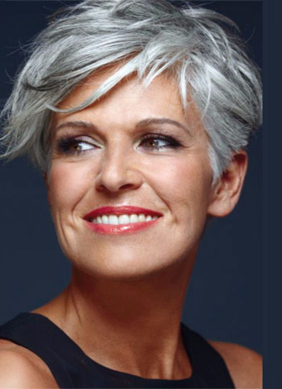 Short Asymmetrical Haircut for Women Over 50