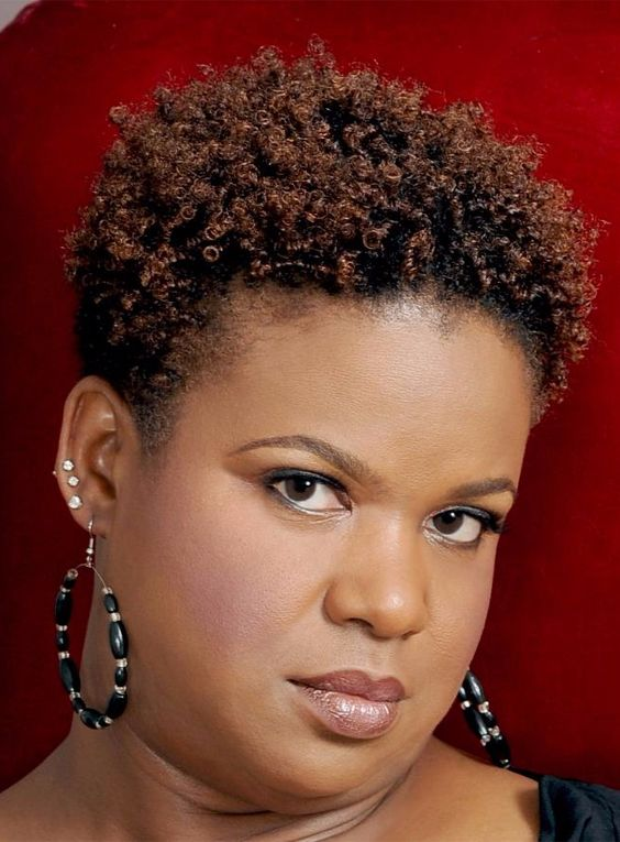 Teeny Afro Hairstyle for Women Over 50