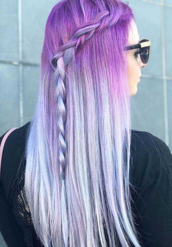 Pastel Hair Color Trends 2018 for Women