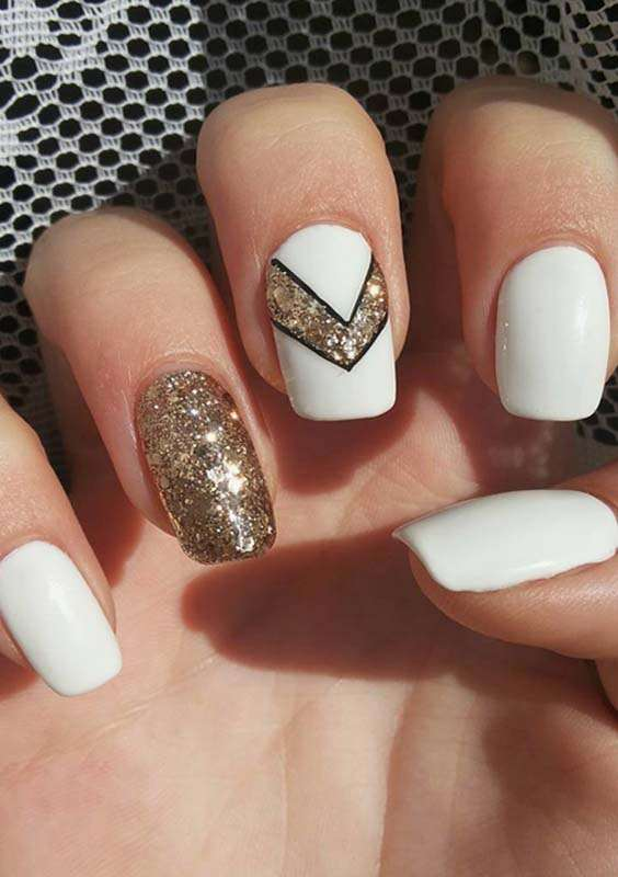 Acrylic White Nail Art Designs for Ladies