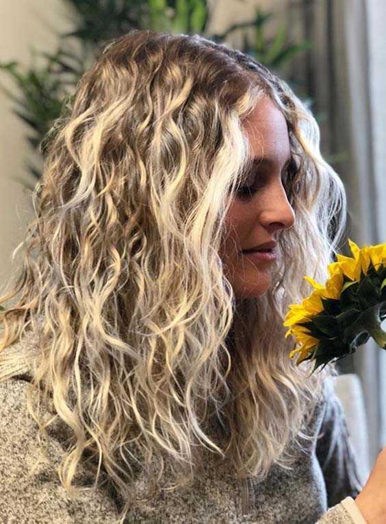 Blonde Balayage Curly Hairstyles 2018