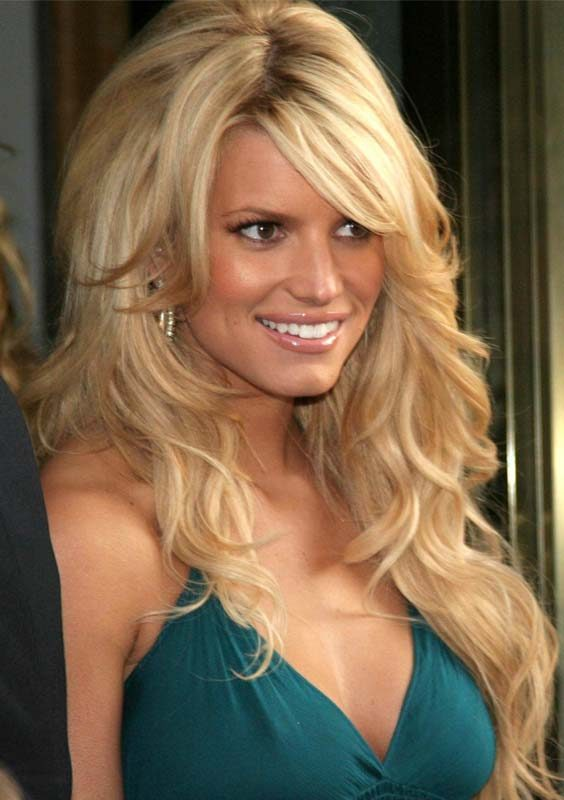 Jessica Simpson Long Bang Hairstyles 2018