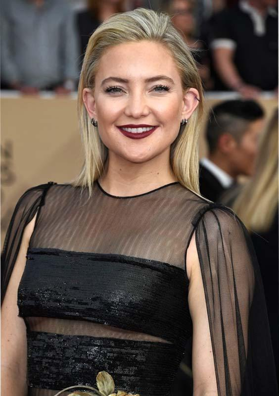 Kate Hudson Long Sleek Haircuts for 2018