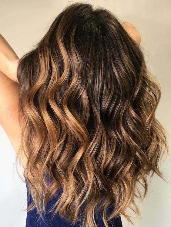Long Balayage Brown Haircuts for 2018