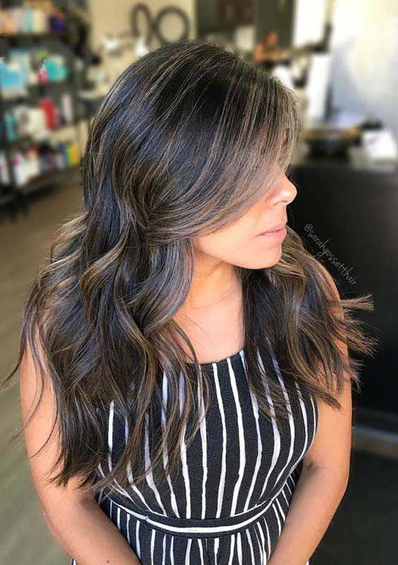 Long Wavy Balayage Hair Ideas in 2018