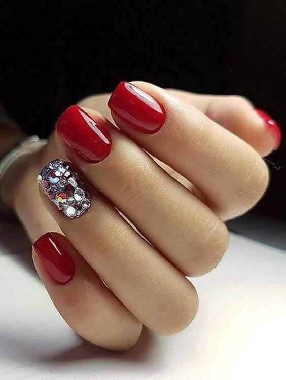 Cute Red Nail Arts and Nail Designs