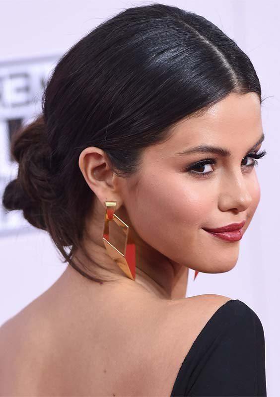 Selena Gomez Updos in 2018