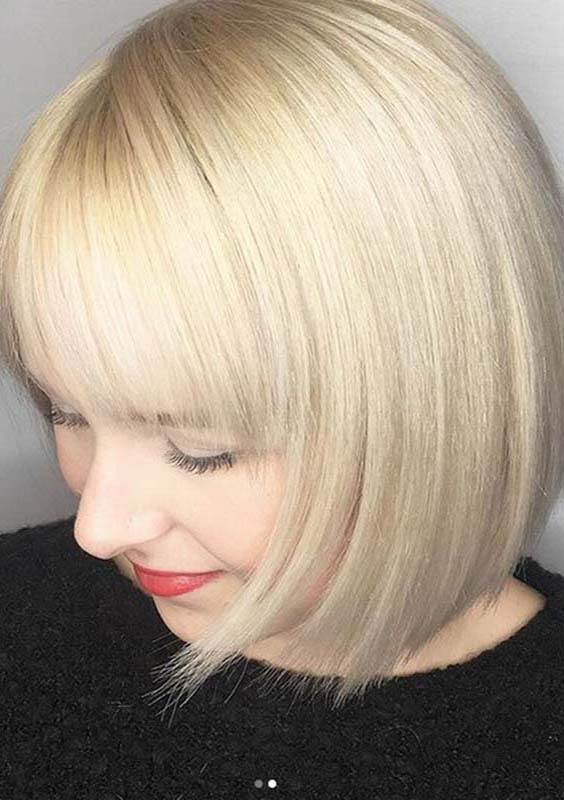 Short Bob Blonde Haircuts for 2018