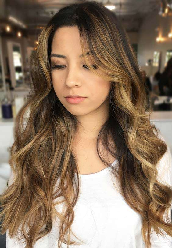 Sunkissed Brunette Balayage Long Hairstyles in 2018
