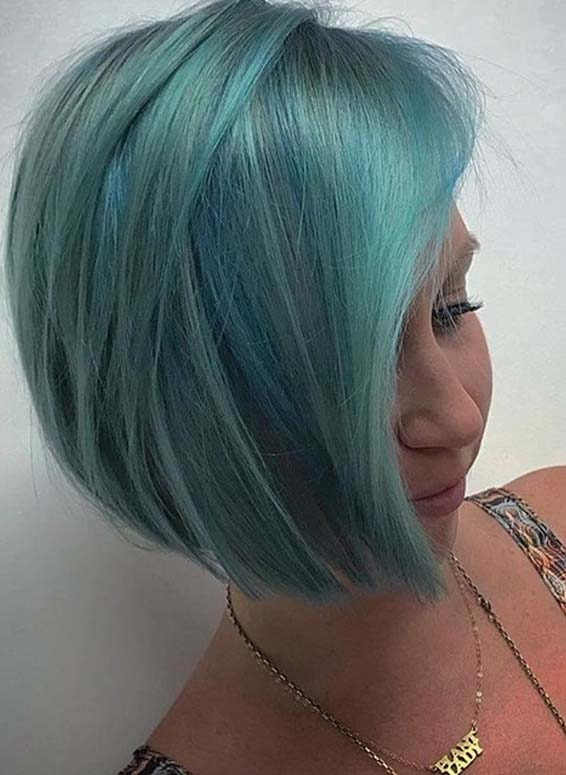 Aqua Blue Hair Color Ideas for 2018