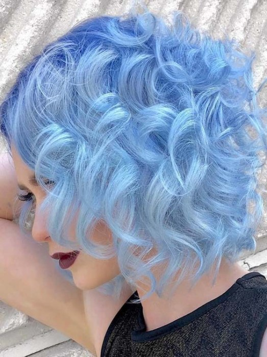 Attention Catching Sky Blue Hair Colors For Short Hair