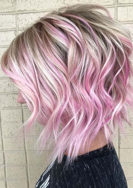 Adorable Bedhead Bob & Pink Hair Color Shades for 2018 | Stylezco