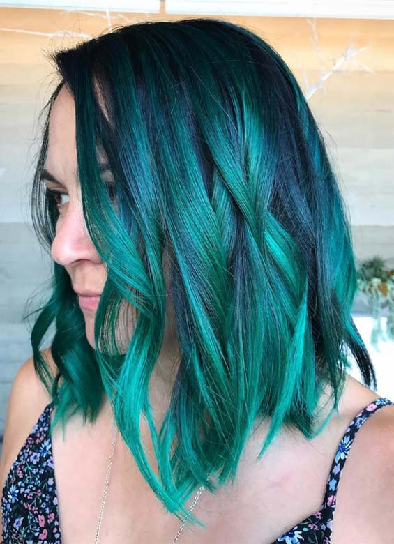 Fantastic Green Blue Hair Color Shades in 2018