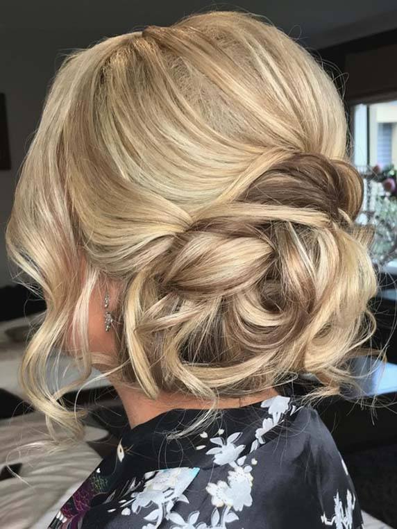 Messy Updo Hairstyles for fall season 2018