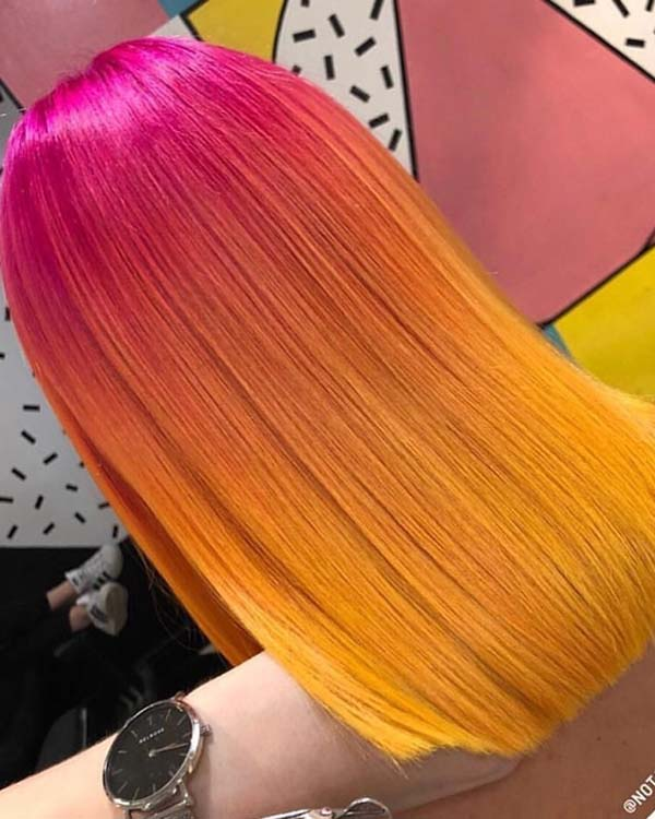 Pink & Yellow Hair Color Shades for 2018