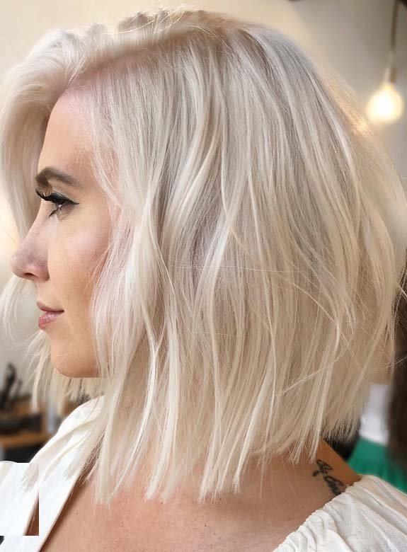 Trending Platinum Blonde Bob Haircuts For Women 2018