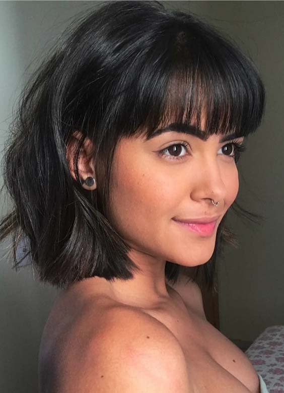 Short Haircuts with Front Bangs in 2018
