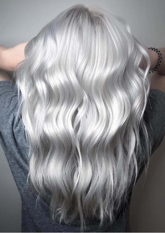 Gorgeous Silver Blonde Hair Color Shades To Get Inspired