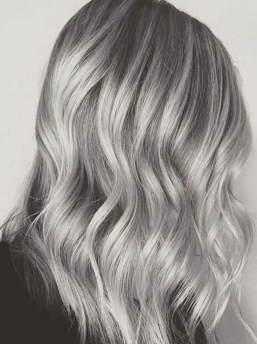 Stormy Silver Grey Hair Color Ideas