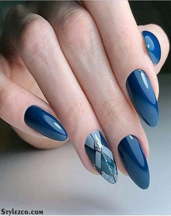 Super Cute & Stylish Blue Nail Art Trends to Try Out In 2018