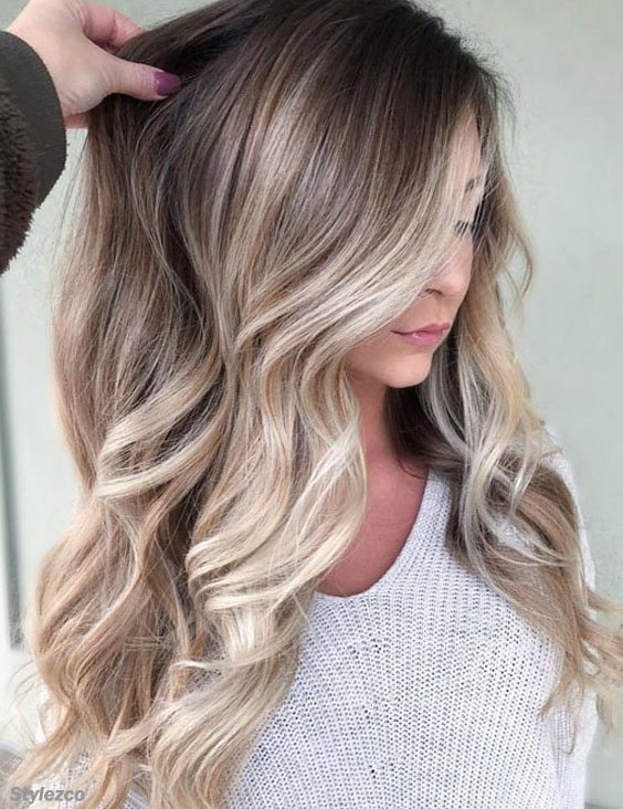 Gorgeous Blonde Balayage Hair Color Trends For Long Hair In 2018