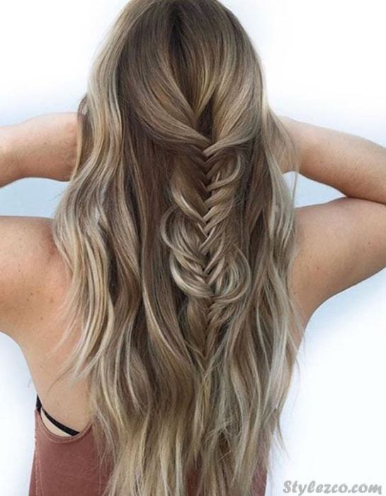 Elegant Looks of 2018 Fishtail Braids Hairstyles for Blonde Girls