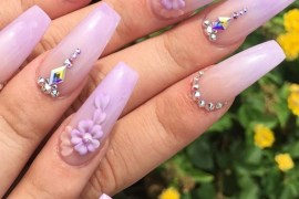 Light Purple Nail Art Designs for 2018
