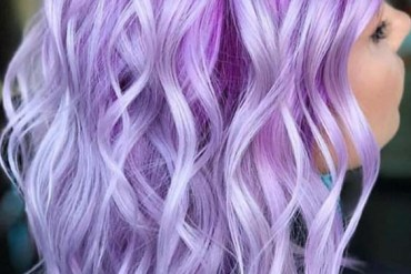 Lilac and Silver Lob Hairstyles in 2018