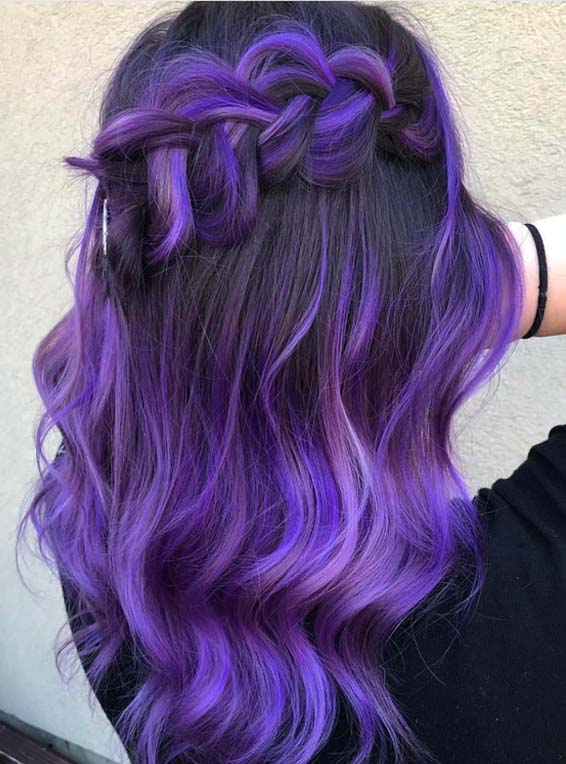 Marvelous Purple Colored Braid Styles in 2018