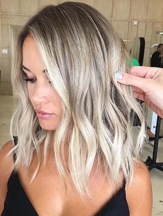 Modern Blends Of Balayage Hair Colors for Lob Styles for 2018