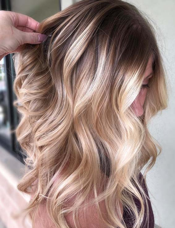 Delightful Rooted Blonde Balayage Highlights For 2018 Stylezco