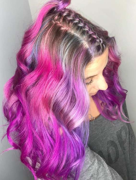 Stunning Braids with Pastel Highlights for 2018