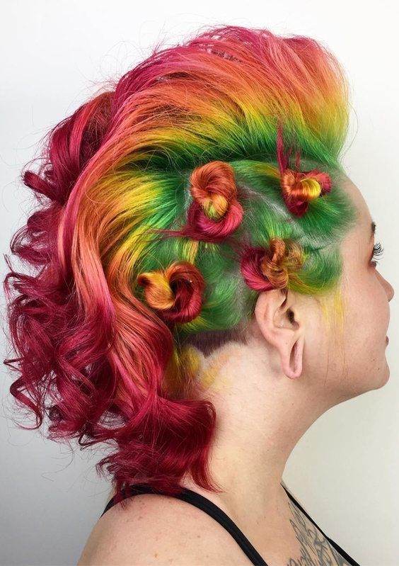 Colorful Hair Looks & Hairstyles Ideas for Next Weekend | Stylezco