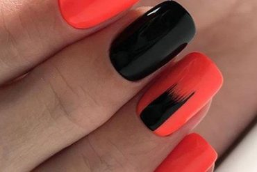 Cute Red & Black Nail Art Styles &Color Combination for 2018