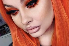 Flame-point Hair Color & makeup Ideas for 2018