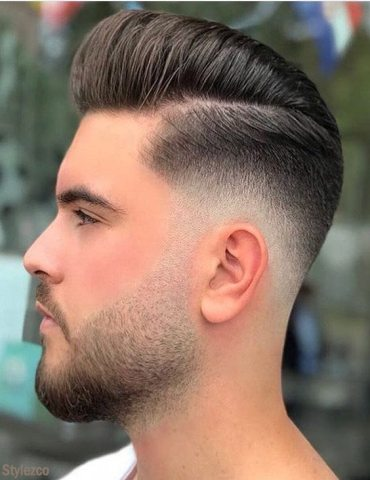 Lovely Short Side Long Top Hairstyle for Men's