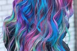 Lovely Rainbow Hair Color Highlight & Styles for 2018