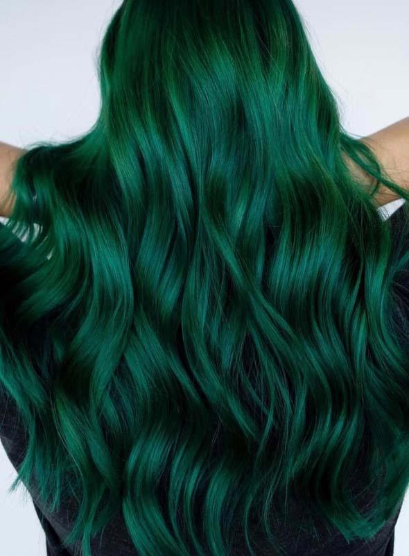 stunning green hair colors