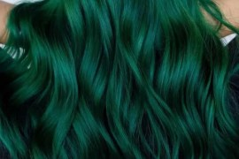 Stunning Green Hair Colors For Long Hairstyles for 2018