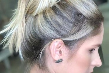 Top Bun Styles with Blonde Hair Looks in 2018