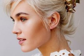 Adorable French Twist Hairstyle with Claw Clip for 2019 Bridals